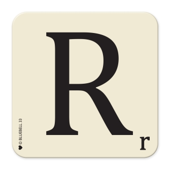 Letter R Table Mat