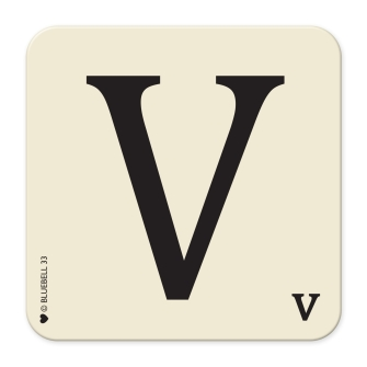 Letter V Table Mat