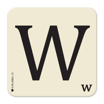 Letter W Table Mat