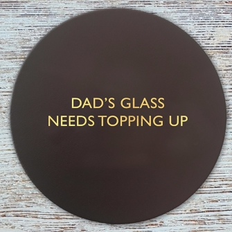 Dad's glass needs topping up