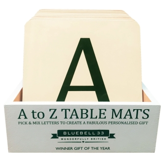 Alphabet Tablemat Starter Pack (with FREE Wooden display box!)