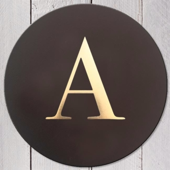 Letter A Leather Coaster