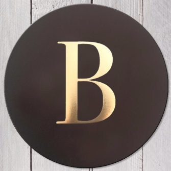 Letter B Leather Coaster