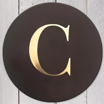 Letter C Leather Coaster