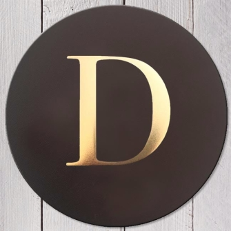 Letter D Leather Coaster