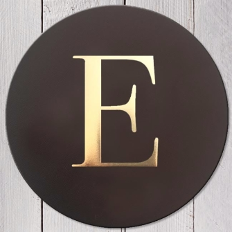 Letter E Leather Coaster
