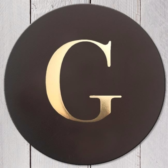 Letter G Leather Coaster