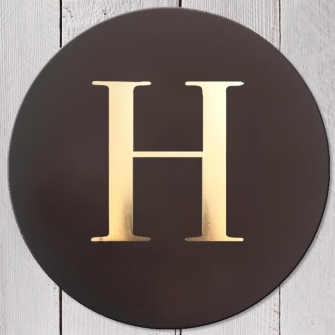Letter H Leather Coaster