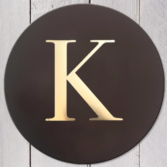 Letter K Leather Coaster