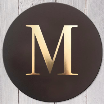 Letter M Leather Coaster