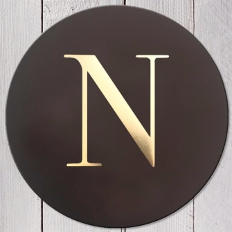 Letter N Leather Coaster