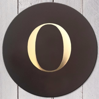 Letter O Leather Coaster