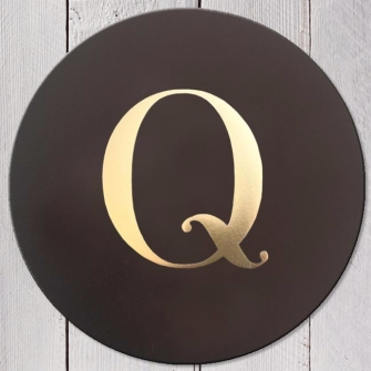Letter Q Leather Coaster