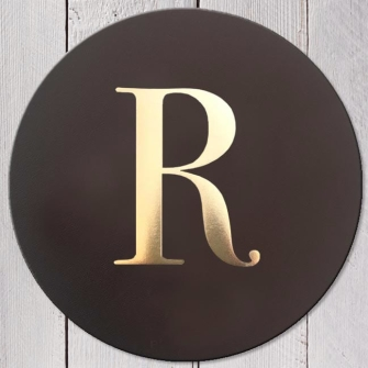 Letter R Leather Coaster