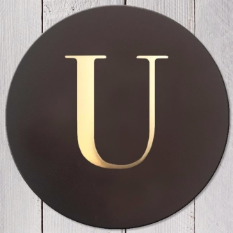 Letter U Leather Coaster