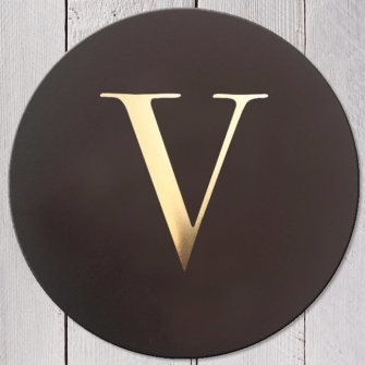 Letter V Leather Coaster