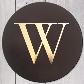Letter W Leather Coaster