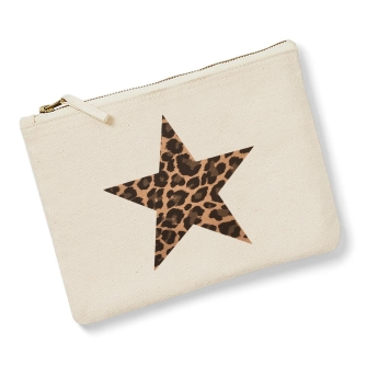 Star - Natural, Leopard Print