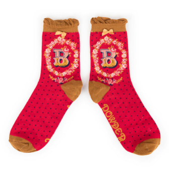 Letter B Ankle Socks