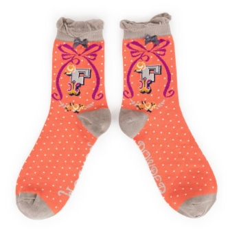 Letter F Ankle Socks