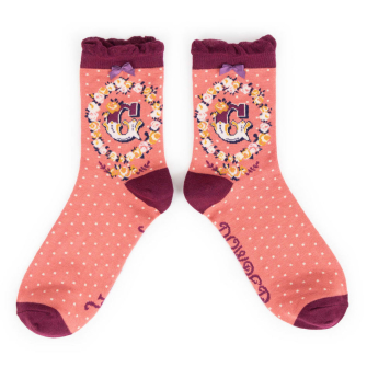 Letter G Ankle Socks