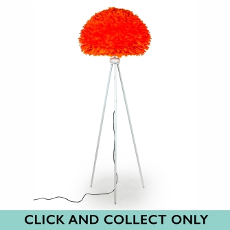 Orange Goose Feather Lamp