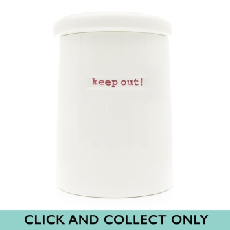 KBJ Storage Jar - keep out!
