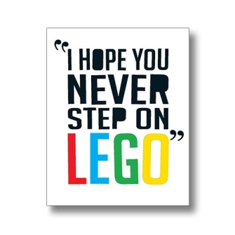 Never Step on LEGO