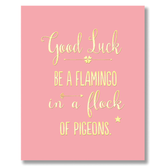 Good Luck Flamingo