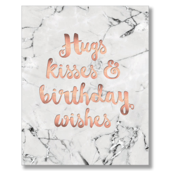 Hugs Kisses & Birthday Wishes