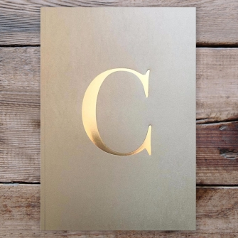 Letter C Gold Notebook