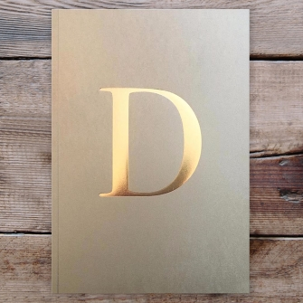 Letter D Gold Notebook