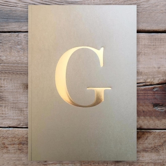 Letter G Gold Notebook