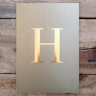 Letter H Gold Notebook