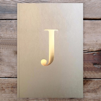 Letter J Gold Notebook