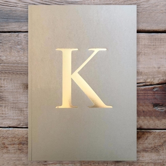 Letter K Gold Notebook