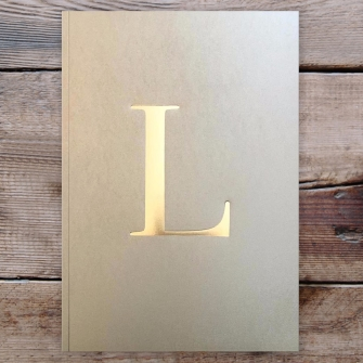 Letter L Gold Notebook