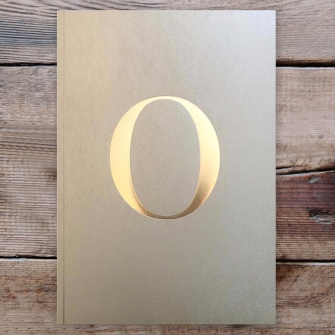 Letter O Gold Notebook