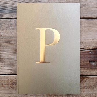 Letter P Gold Notebook