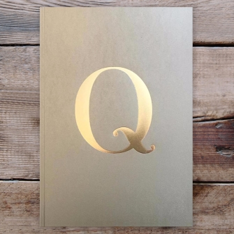 Letter Q Gold Notebook