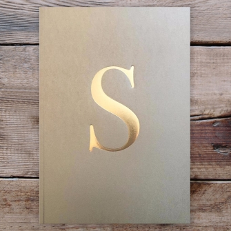 Letter S Gold Notebook