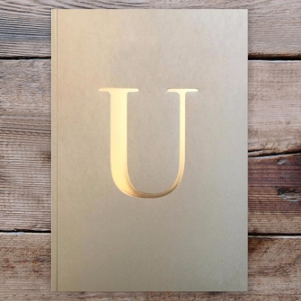 Letter U Gold Notebook