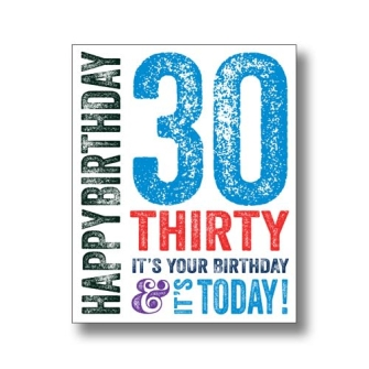 30 Today - Blue