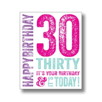 30 Today - Pink
