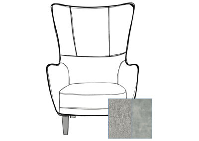 Harry Chair Lovely Cement and Fontana Platinu
