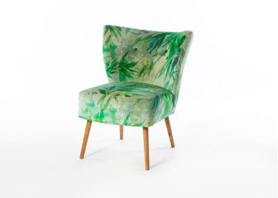Chloe Chair Beech Oak Stain Leg - Designers Guild Chinois Jade