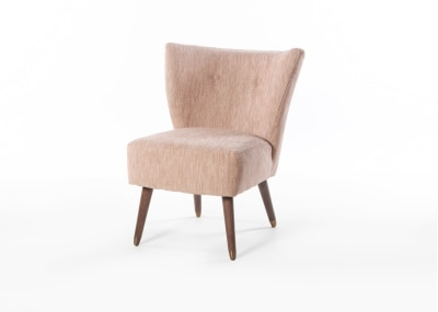 Izzy Chair Smoke Leg with Cups - Limone Blush