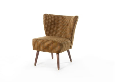 Izzy Chair Smoke Leg with Cups - Moon Holborn Ochre