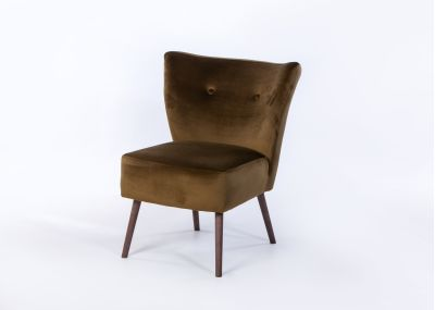 Chloe Chair Smoke Leg - Brussels Olive