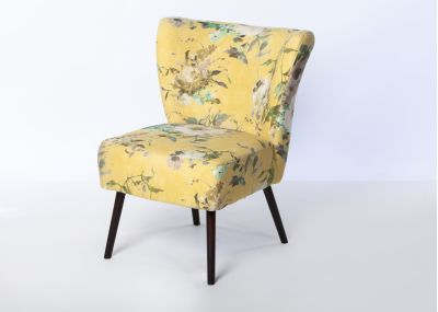 Chloe Chair Wenge Leg - Vienna Lemon